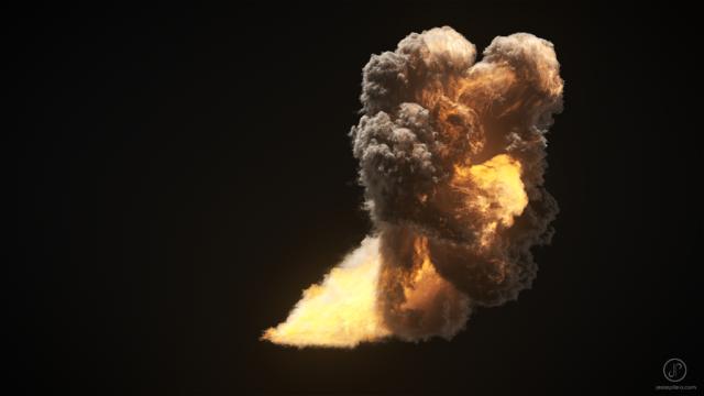 realistic fire cgi simulation