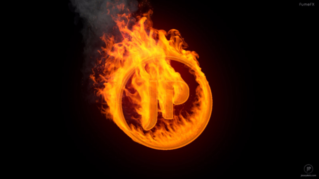 fire logo 3d animation