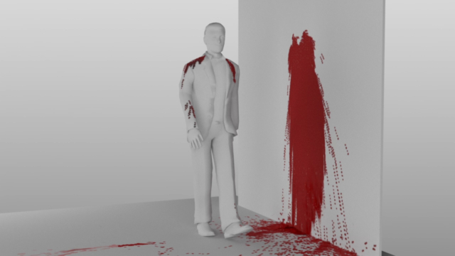 CGI Blood simulation 3D animation