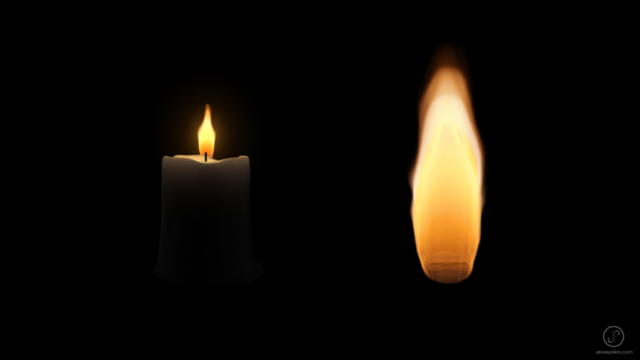 cgi fumefx candle fire simulation