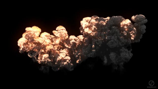 large scale explosion fumefx