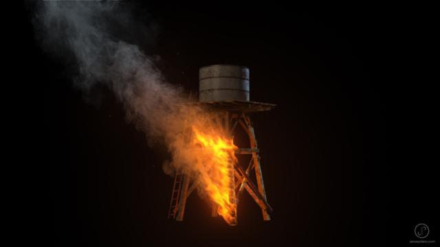 realistic wood fire vfx cgi fumefx
