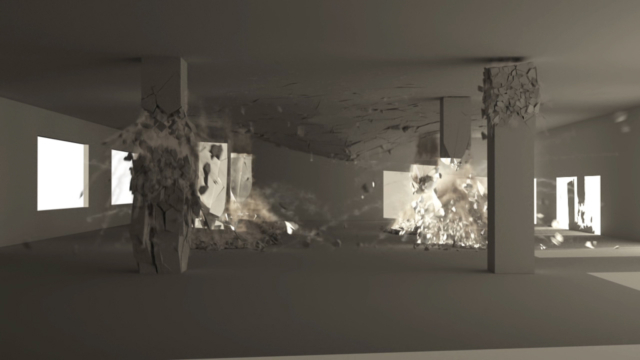 building collapse thinking particles vfx cgi destruction