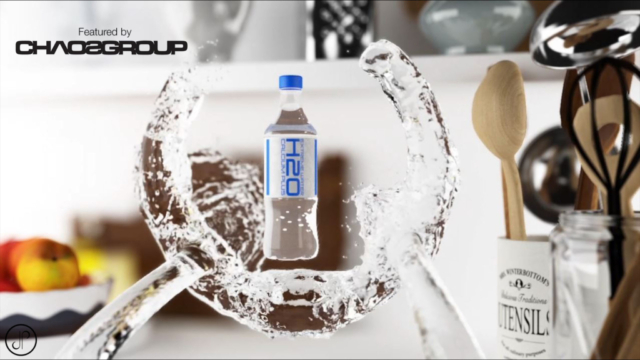 water 3d animation bottle commercial vfx cgi Product 3D Animation / Rendering / Visualization