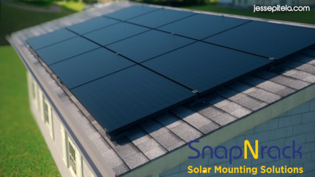 Solar panel system Product 3D Animation / Rendering / Visualization