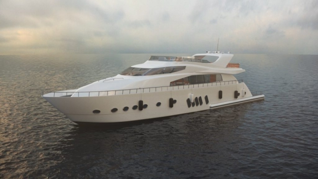 yacht boat ship luxury realistic product 3d animation rendering visualization