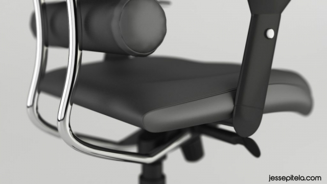 office luxury chair realistic product 3d animation rendering visualization
