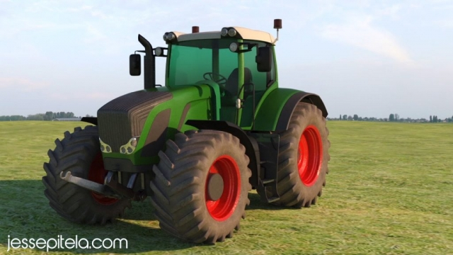 tractor industrial agricultural 3d rendering product visualization