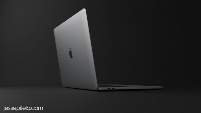 laptop macbook  realistic product 3d animation rendering