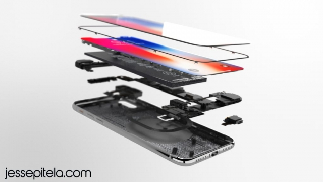 iphonex exploded view 3d animation product rendering