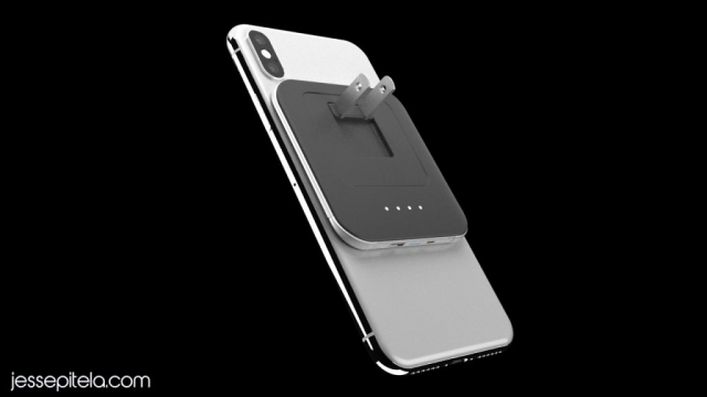 iphoneX wireless charger Product 3D rendering