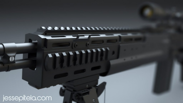 weapon realistic cad 3D rendering animation